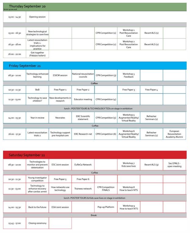 Programma ERC2018