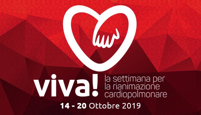 Viva! la Settimana per la Rianimazione Cardiopolmonare  14- 20 Ottobre 2019